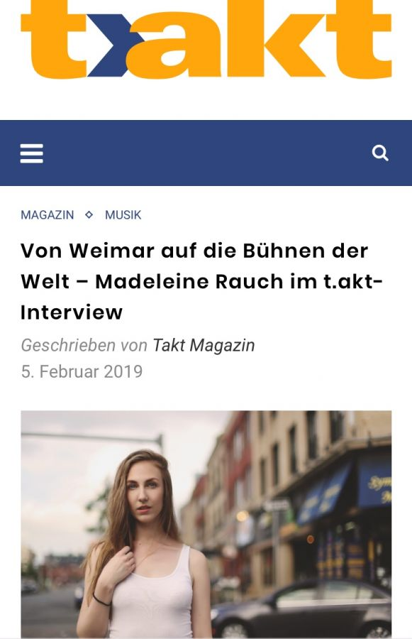 Interview Madeleine Rauch Takt Magazin